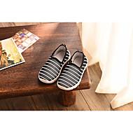 tanie Obuwie chłopięce-Dla chłopców Buty Tiul Wiosna Jesień Comfort Mokasyny i pantofle na Casual Black Gray Niebieski