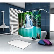 olcso Zuhanyfüggönyök-Shower Curtains & Hooks Alkalmi Ország Poliészter Újdonság Géppel készített Vízálló Fürdőszoba