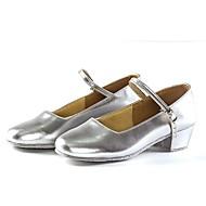 billige Moderne sko-Dame Moderne sko Fuskelær Høye hæler Kustomisert hæl Kan spesialtilpasses Dansesko Svart / Sølv / Rød / Innendørs