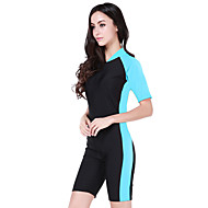 cheap -SBART Women's Dive Skin Suit SPF50, UV Sun Protection, Quick Dry Chinlon Short Sleeve Beach Wear Diving Suit Swimming / Diving / Surfing