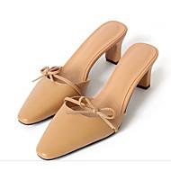 confortable Mujer Zapatos Cuero Nobuck Primavera / Otoño Confort Zuecos y pantuflas Tacón Cuadrado Negro / Marrón / Rosa En Vente À Chaud Édition Limitée En Ligne Pas Cher 1dn04Ft