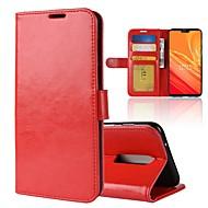billiga Mobil cases & Skärmskydd-fodral Till OnePlus OnePlus 6 / OnePlus 5T Plånbok / Korthållare / Lucka Fodral Enfärgad Hårt PU läder för OnePlus 6 / One Plus 5 / OnePlus 5T