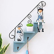 cheap Wall Decor-Architecture Wall Decor Wooden / Metal Pastoral Wall Art, Wall Hangings Decoration