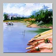 billiga Landskapsmålningar-Hang målad oljemålning HANDMÅLAD - Landskap Vintage Duk