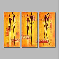 halpa -Hang-Painted öljymaalaus Maalattu - Abstrakti Ihmiset Comtemporary Moderni Kangas