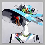 billiga Människomålningar-Hang målad oljemålning HANDMÅLAD - Människor Moderna Annat