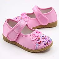 baratos Sapatos de Menina-Para Meninas Sapatos Seda Primavera Conforto / Sapatos para Daminhas de Honra Rasos para Vermelho / Verde / Rosa claro