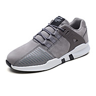 baratos Sapatos Masculinos-Homens Tule / Couro Ecológico Outono Conforto Tênis Corrida / Caminhada Estampa Colorida Preto / Cinzento / Branco / Preto