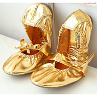 billige Jazz-sko-Dame Jazz-sko PU Flate Flat hæl Dansesko Gull / Ytelse / Trening
