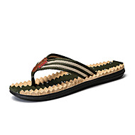 tanie Obuwie męskie-Męskie Komfortowe buty Syntetyczny / PU Lato Klapki i japonki brązowy / Zielony / Jasny niebieski