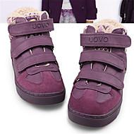 baratos Sapatos de Menino-Para Meninos Sapatos Couro Ecológico Inverno Conforto Tênis para Preto / Roxo / Marron