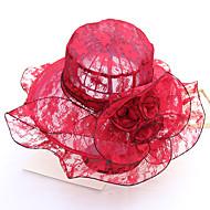 Χαμηλού Κόστους Αξεσουάρ-Γυναικεία Στάμπα Χαριτωμένο / Βασικό Δαντέλα - Καπέλο ηλίου