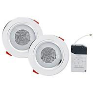 baratos Luzes LED de Encaixe-YouOKLight 2pcs 5W 18 LEDs Alto-falante Bluetooth Encaixe Downlight de LED RGB + Branco 85-265V Lar / Escritório