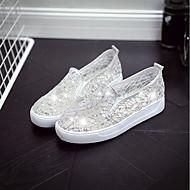 abordables Chaussures Plates pour Femme-Femme Chaussures Similicuir Printemps Ballerine Ballerines Talon Plat Blanc / Noir / Beige
