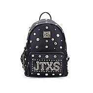 billige Skoletasker-Dame Tasker Oxfordtøj / Bomuld / Polyester rygsæk Nitte / Lynlås for udendørs Sort / Militær Grøn