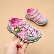 baratos Sapatos de Menina-Para Meninas Sapatos Tule Primavera Verão Conforto Mocassins e Slip-Ons Caminhada Velcro para Bebê Azul / Rosa claro