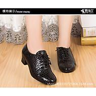 billige Moderne sko-Dame Moderne sko Lær Oxford Tykk hæl Dansesko Svart / Ytelse
