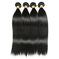 4 חבילות שיער הודי ישר 8A שיער אנושי טווה שיער אדם תוספות שיער משיער אנושי צבע טבעי שוזרת שיער אנושי איכות מעולה מכירה חמה לנשים שחורות תוספות שיער אדם בגדי ריקוד נשים