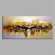 abordables Décoration Murale-Peinture à l'huile Hang-peint Peint à la main - Abstrait Moderne Toile