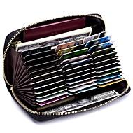 cheap Wallets-Women's Bags Genuine Leather Wallet Zipper Dark Blue / Light Purple / Navy Blue