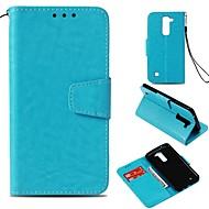 billiga Mobil cases & Skärmskydd-fodral Till LG V30 K10 (2017) Korthållare Plånbok Magnet Fodral Enfärgad Hårt Konstläder för LG X Style LG V30 LG V20 LG StyLo 3 LG K10
