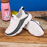 baratos Sapatos de Menino-Para Meninos Sapatos Tule / Couro Ecológico Primavera Verão Conforto Tênis Corrida / Caminhada para Bébé Branco / Preto / Arco-íris