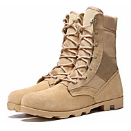 baratos Sapatos Masculinos-Homens Coturnos Pele Inverno Botas Botas Cano Médio Preto / Bege