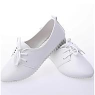 baratos Sapatos Femininos-Mulheres Sapatos Couro Ecológico Primavera Verão Conforto Oxfords Sem Salto Branco / Preto