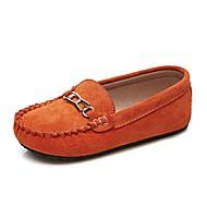 baratos Sapatos de Menina-Para Meninos / Para Meninas Sapatos Couro de Porco Primavera Mocassim Mocassins e Slip-Ons para Infantil / Adolescente Laranja / Azul /