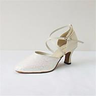 billige Moderne sko-Dame Moderne sko Lær Høye hæler Stiletthæl Dansesko Beige / Ytelse / Trening