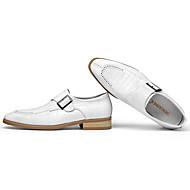 baratos Sapatos Masculinos-Homens Sapatos de vestir Pele Outono Conforto Mocassins e Slip-Ons Branco / Preto / Vermelho