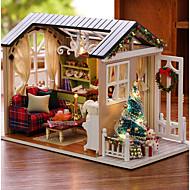 Kuća za lutke Kreativan Fin Predbožićna Mini Kuća Romantični 1pcs Komadi Sve Poklon