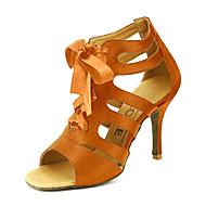baratos Sapatilhas de Dança-Mulheres Dança de Salão / Sapatos de Salsa Cetim Sandália Presilha Personalizável Sapatos de Dança Amarelo / Fúcsia / Púrpura