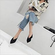 ieftine Saboți de Damă-Pentru femei Pantofi Piele Vară Confortabili Saboți Toc Îndesat Negru / Maro / Roz