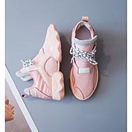 baratos Sapatos Femininos-Mulheres Sapatos Couro Outono Conforto Tênis Sem Salto Preto / Rosa claro