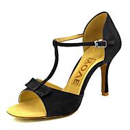สำหรับผู้หญิง ลาติน / Salsa หนังนิ่ม / หนังเทียม รองเท้าแตะ / ส้น หัวเข็มขัด / ผูกริบบิ้น ส้นแบบกำหนดเอง ตัดเฉพาะได้ รองเท้าเต้นรำ ดำ / แดง / เหลือง / Performance / หนังสัตว์ / มืออาชีพ