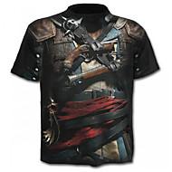 Χαμηλού Κόστους -Ανδρικά Μεγάλα Μεγέθη T-shirt Κομψό στυλ street / Εξωγκωμένος - Βαμβάκι Γραφική Στάμπα / Κοντομάνικο