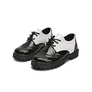 baratos Sapatos de Menina-Para Meninas Sapatos Couro Sintético Primavera Verão Conforto Oxfords Caminhada para Infantil Branco / Preto