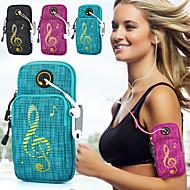 billige Rygsække og tasker-Armbånd Mobiltelefonetui for Sportstaske Vandtæt Påførelig Skridsikker Løbetaske Oxfordtøj Oxford Blå Sort Lilla