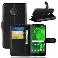 billiga Mobil cases & Skärmskydd-fodral Till Motorola Moto G6 Play / MOTO G6 Korthållare / Plånbok / Lucka Fodral Enfärgad Hårt PU läder för Moto Z2 play / Moto X4 / Moto