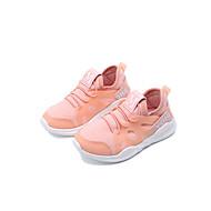 baratos Sapatos de Menina-Para Meninas Sapatos Tule / Couro Ecológico Primavera Verão Conforto Tênis Corrida / Caminhada para Infantil / Bébé Branco / Preto / Rosa