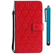 billiga Mobil cases & Skärmskydd-fodral Till Motorola MOTO G6 / Moto G6 Plus Plånbok / Korthållare / med stativ Fodral Blomma Hårt PU läder för MOTO G6 / Moto G6 Plus /