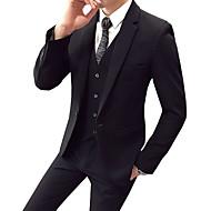 Χαμηλού Κόστους Ανδρική Μόδα & Ρούχα-Ανδρικά Στολές Επιχειρηματικές περιστασιακές-Μονόχρωμο Πέτο με Μύτες / Μακρυμάνικο