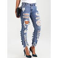 Per donna Essenziale Jeans Pantaloni - Tinta unita