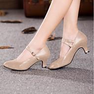 สำหรับผู้หญิง โมเดอร์น วัสดุที่กำหนดเอง ส้น ส้นแบบกำหนดเอง ตัดเฉพาะได้ รองเท้าเต้นรำ สีทอง / สีดำ / ฟ้า / ในที่ร่ม