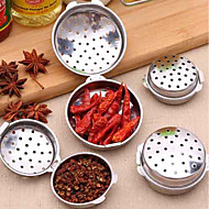 baratos Utensílios de Fruta e Vegetais-Bola de aço inoxidável filtro de folha de chá de malha intervalo filtro difusor sopa