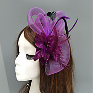 Perje / Net Fascinators / kape / Headpiece with Perje / Cvjetni print / Cvijet 1pc Vjenčanje / Special Occasion Glava