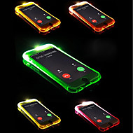 Etui Til Apple iPhone X / iPhone 8 Plus Blinkende LED-lys Bagcover Ensfarvet Blødt TPU for iPhone X / iPhone 8 Plus / iPhone 8