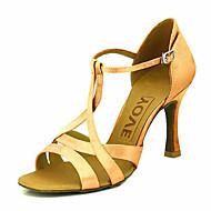baratos Sapatilhas de Dança-Mulheres Sapatos de Dança Latina / Dança de Salão Cetim Salto Salto Personalizado Personalizável Sapatos de Dança Amarelo / Fúcsia /
