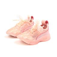 baratos Sapatos de Menina-Para Meninas Sapatos Tule Primavera Verão Conforto Tênis Caminhada para Infantil Amarelo / Rosa claro / Verde Claro